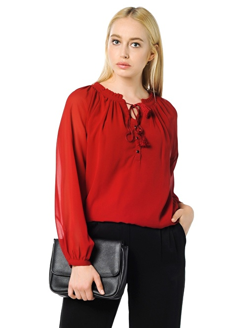 Vero Moda Şifon Bluz Kırmızı
